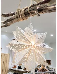 Grande étoile lumineuse en papier à suspendre décoration etoile a suspendre lanterne abat jour