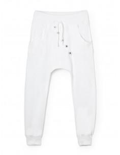 Pantalon jogging sarouel pour femme en coton , Blanc