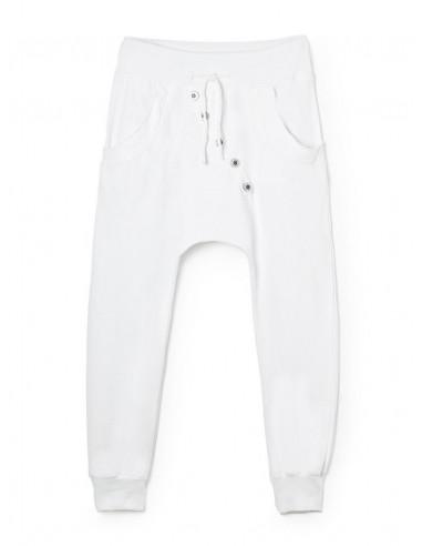pantalon de jogging chic blanc pour femme coupe sarouel. Black Bedroom Furniture Sets. Home Design Ideas