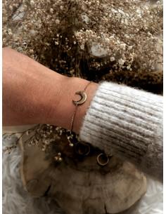 Bracelet plaqué or LUNA chaine et lune