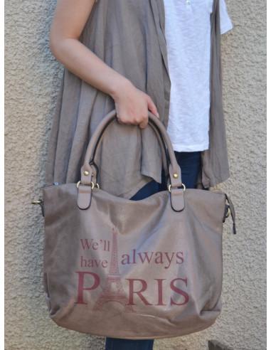 sac main pour femme marron nacr forme cabas en simili cuir. Black Bedroom Furniture Sets. Home Design Ideas