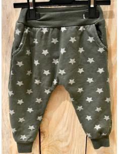 Pantalon jogging fille avec étoiles pailletées kaki du 1 an au 5 ans