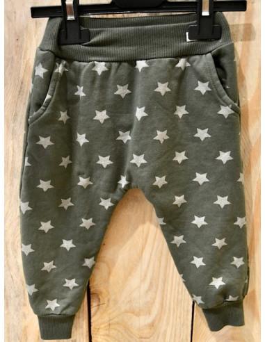 Pantalon de survêtement fille kaki avec motif étoiles pailletés bas de jogging élastique pantalon en coton 1 an 2 3 4 5 ans