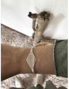 Bracelet indien losange petites perles - Modèle 1