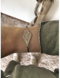 Bracelet indien losange petites perles - Modèle 3