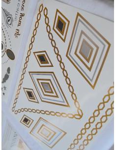 Tatouage temporaire bijoux éphémères - Doré et Argenté 4