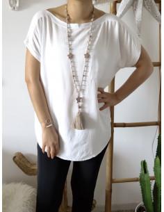 T-shirt fluide CLASSY blanc