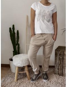 Jogg sarouel WEAR en coton beige